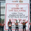 KNPA, GEBRAK Dan GMNI Lakukan Aksi Di Gedung DPR RI