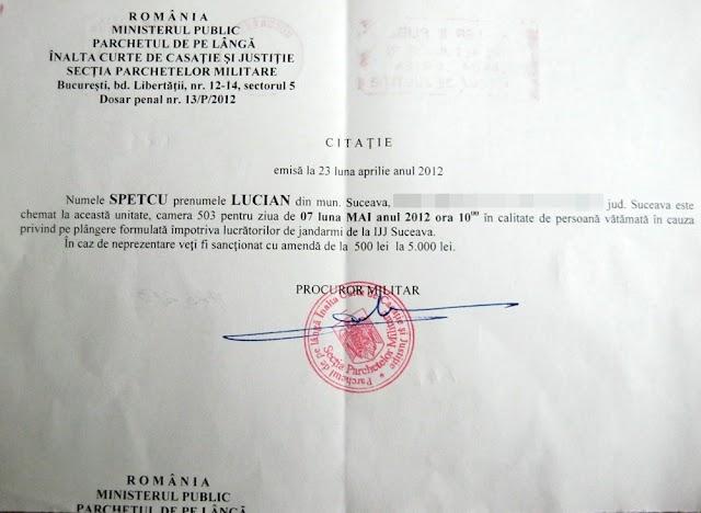 Jandarmii suceveni, anchetați de Parchetul Militar al Curții Supreme pentru amenzile împărțite protestatarilor