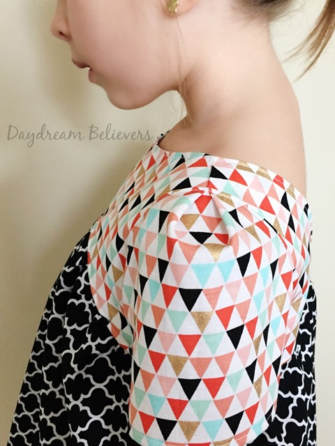 Modern Geometric black white coral mint gold top for girls by Daydream Believers Designs 4