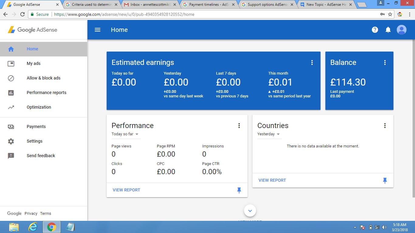 Google adsense earnings is still pending - AdSense Help