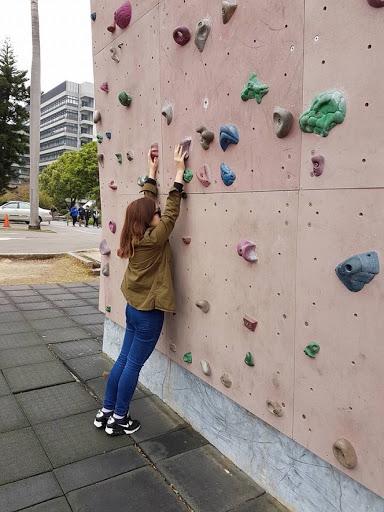 Rock climbing wall at Fengjia University at Taichung
