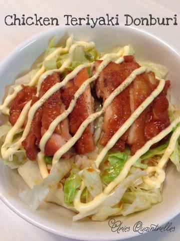 Donburi Series: Chicken Teriyaki Donburi Recipe | Aries ...