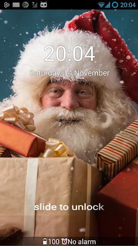 android GO Locker Santa Claus Theme Screenshot 3