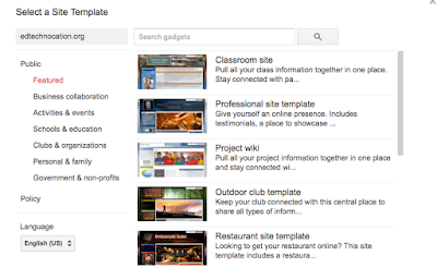 Google sites templates no longer available to students google when they are choosing a template they can either select their school domain at the top of the list on the left or choose from the public list below it pronofoot35fo Gallery