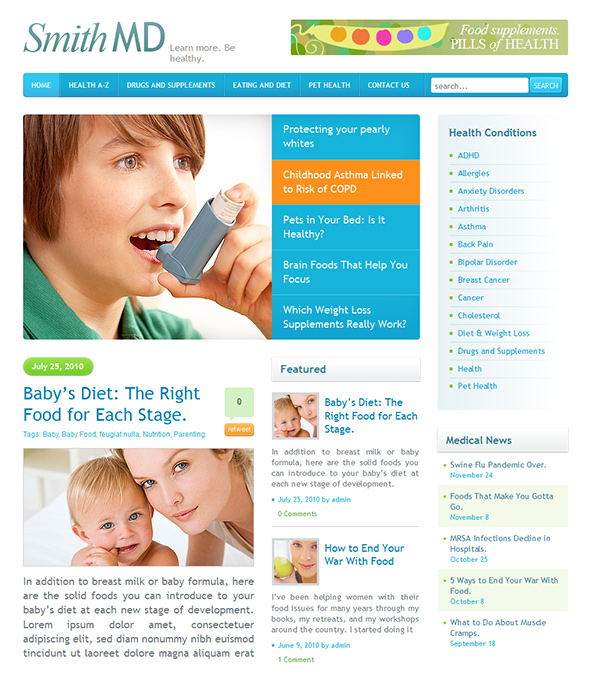 Smith MD Health Care Magazine Theme