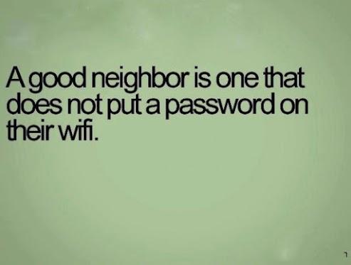 Um bom vizinho é aquele que...
