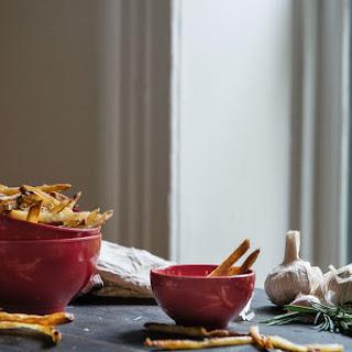 Easy, Crispy Oven Fries, With Rosemary & Garlic.