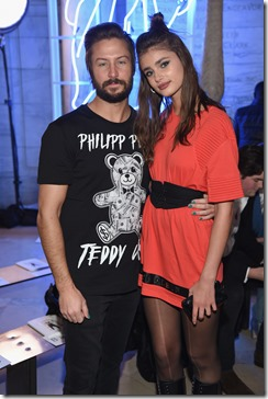NEW YORK, NY - FEBRUARY 13:  Guests attend the Front Row for the Philipp Plein Fall/Winter 2017/2018 Women's And Men's Fashion Show at The New York Public Library on February 13, 2017 in New York City.  (Photo by Dimitrios Kambouris/Getty Images for Philipp Plein)