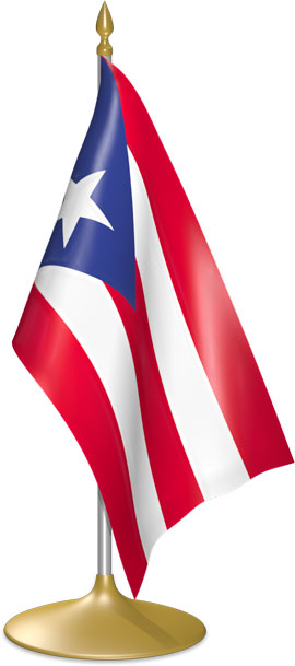Puerto Rican table flags - desk flags