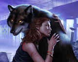 Girl And Wolf Friend