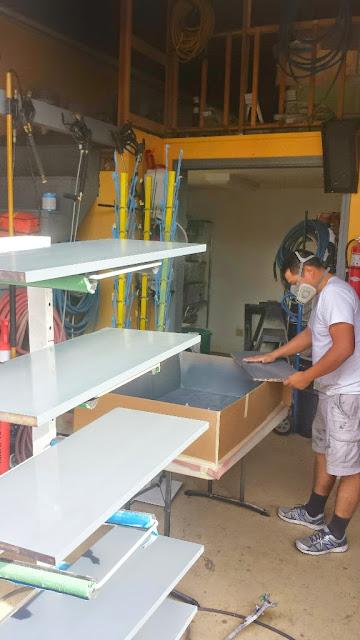 Shop spraying cabinets