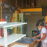 Shop spraying cabinets