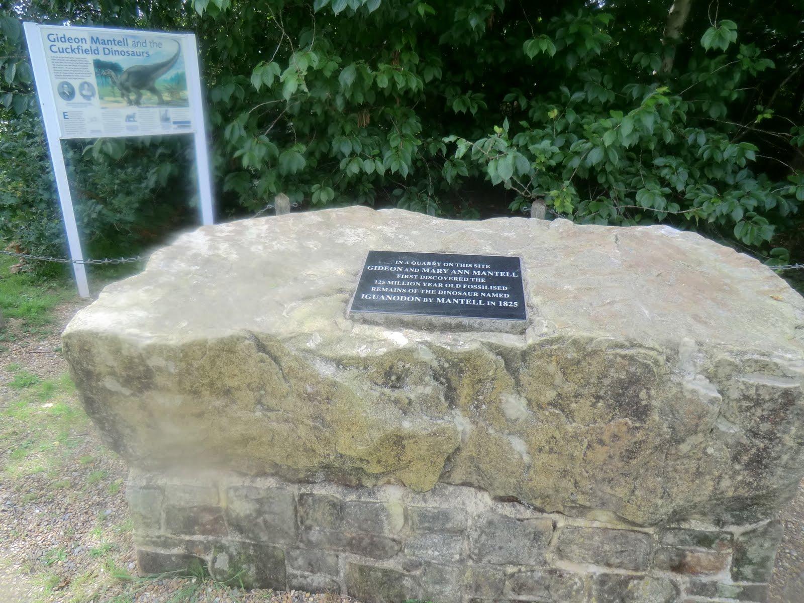 CIMG3568 Dinosaur memorial stone, Whiteman's Green