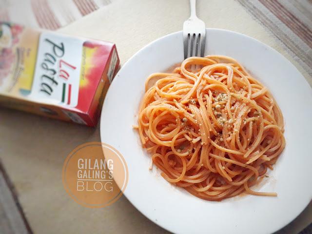 Spaghetti Instant La Pasta Bolognese Keju Enak banget lho teksturnya juga pas