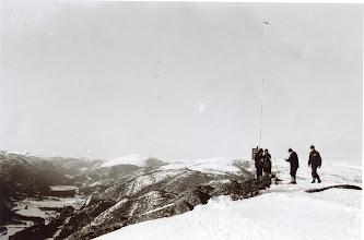 Photo: Testing av forhold, fjelltopp, Åseral? 60-årene