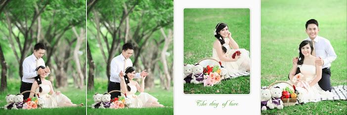 Tình yêu màu xanh lý tưởng cùng địa điểm chụp ảnh cưới công viên Q7