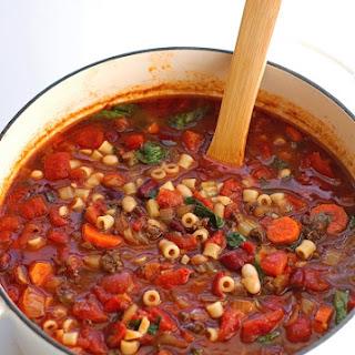 Pasta E Fagioli Soup {Olive Garden Copycat} Recipe