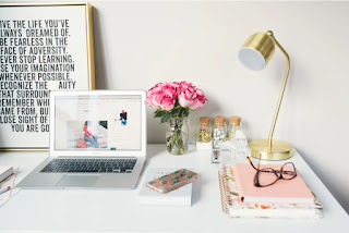 clean bright desk space