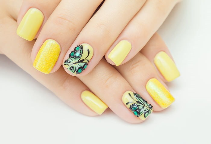 Butterfly Nail polish Art Design