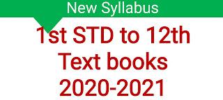 1st std to 12th std all tnschools books 2020-2021 Pdf Download links