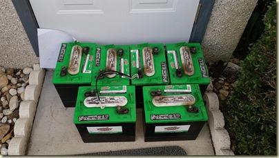Old flooded batteries