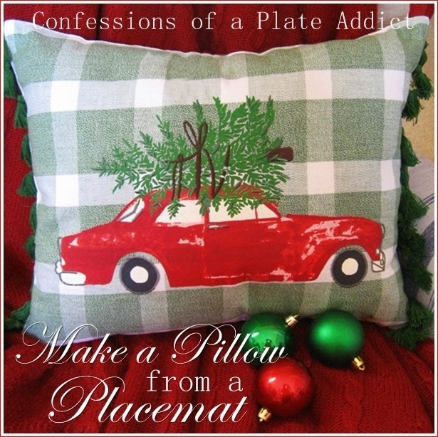 CONFESSIONS OF A PLATE ADDICT How to Make a Pillow from a Placemat
