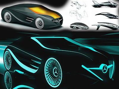 New Concept Cars From Mercedes Benz Sports Blackbird Tron Legacy Created For The 2010 Australian International Motor Show