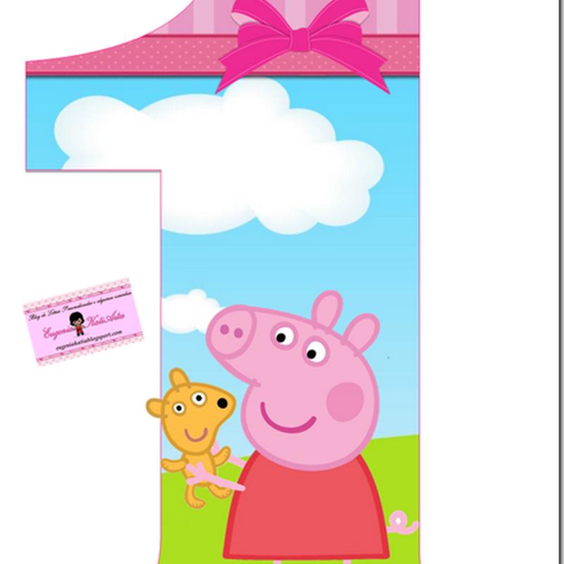Peppa Pig números enormes cumpleaños