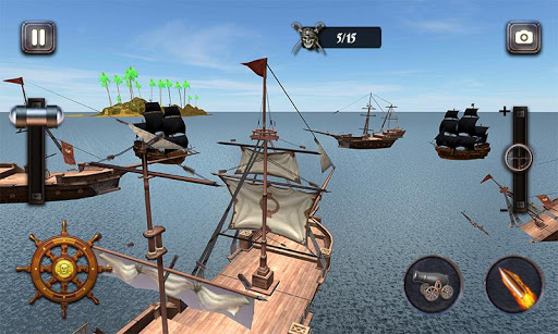 Caribbean Sea Outlaw Pirate Ship Battle 3D android2mod screenshots 1