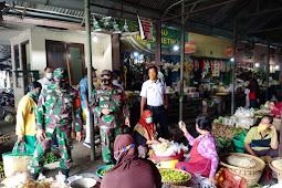 Pasar Harjodaksino Jadi Sasaran Edulasi PPKM Babinsa Danu kusuman