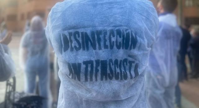 """""""Desinfección Antifascista"""" Acto Vallecas"""