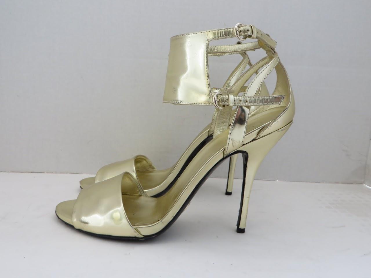 Gucci Golden Stilettos