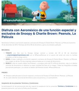 Aeromexico te invita a ver la Película Snoopy y Charlie Brown Peanuts