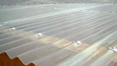 Tôn nhựa sợi thủy tinh loại 12 sóng tròn dùng lợp mái nhà máy