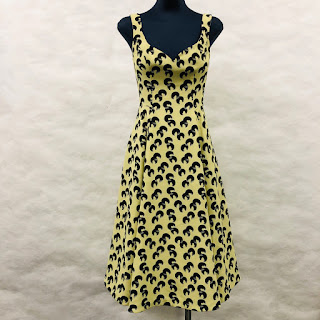 *SALE* Black Halo Yellow Printed Dress