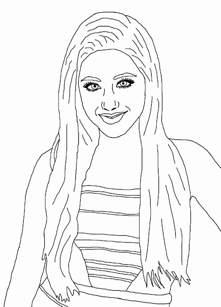 Ariana Grande Coloring Pages