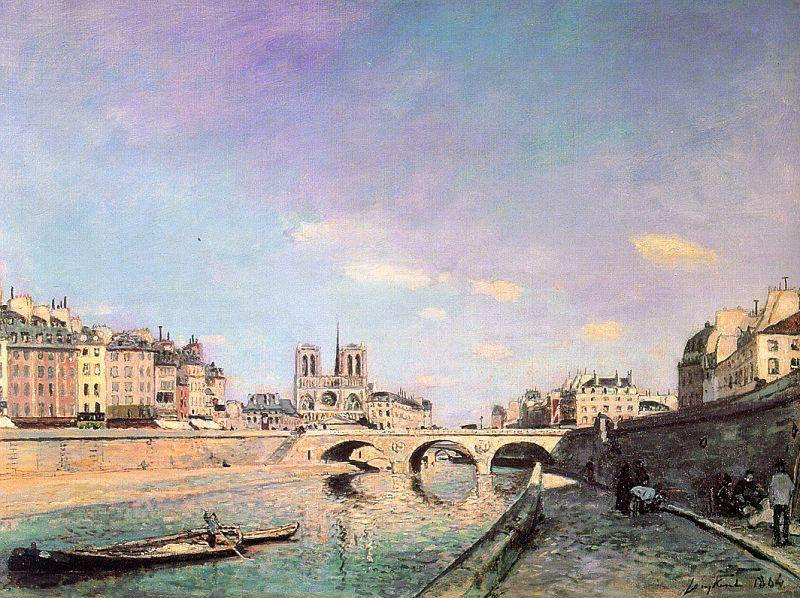 Johan Jongkind - The Seine and Notre-Dame in Paris, 1864