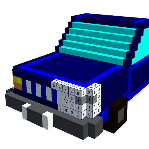 Cars 3D Color by Number: Voxel, Pixel Art Coloring Icon