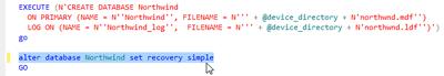 SSMS - Fixing NorthWind script file instnwnd.sql for SQL Server 2012