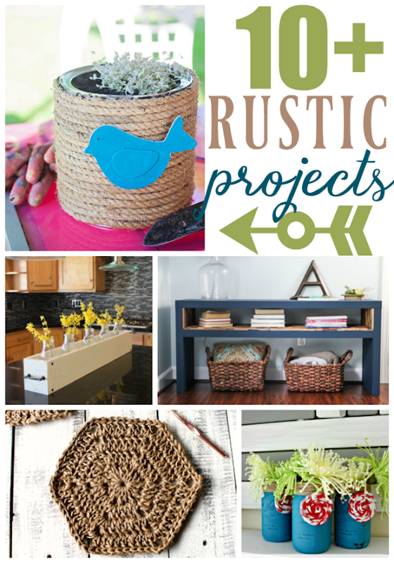 Over 10 Rustic Proejcts at GingerSnapCrafts.com