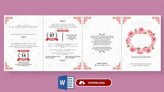 Download Kumpulan Undangan CorelDraw X7 Gratis