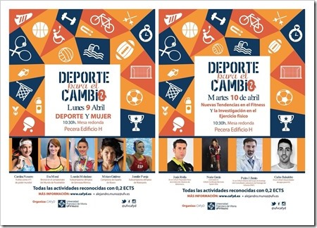 Mesas redondas Semana del Deporte CAFYD UFV 2018
