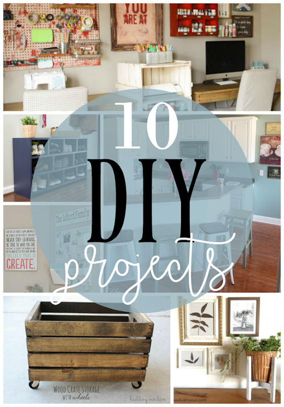 10 DIY Projects at GingerSnapCrafts.com #DIY #forthehome