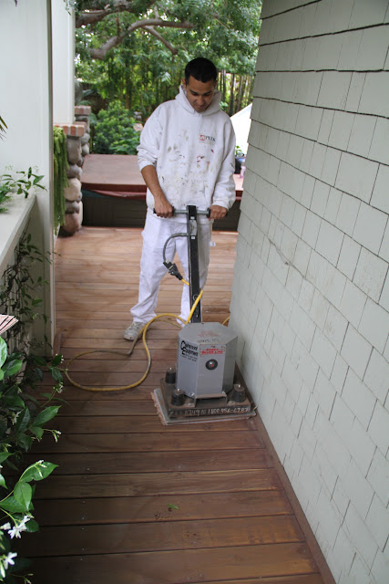 Prepping with a Floor Sander