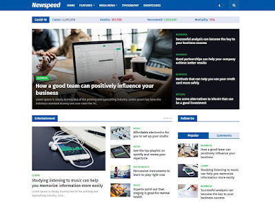 Newspeed premium blogger template