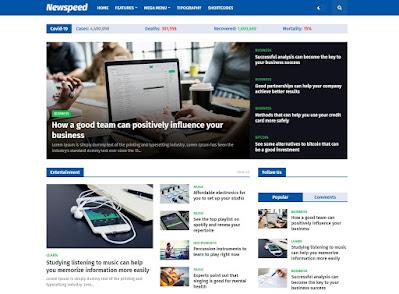 Newspeed premium blogger template