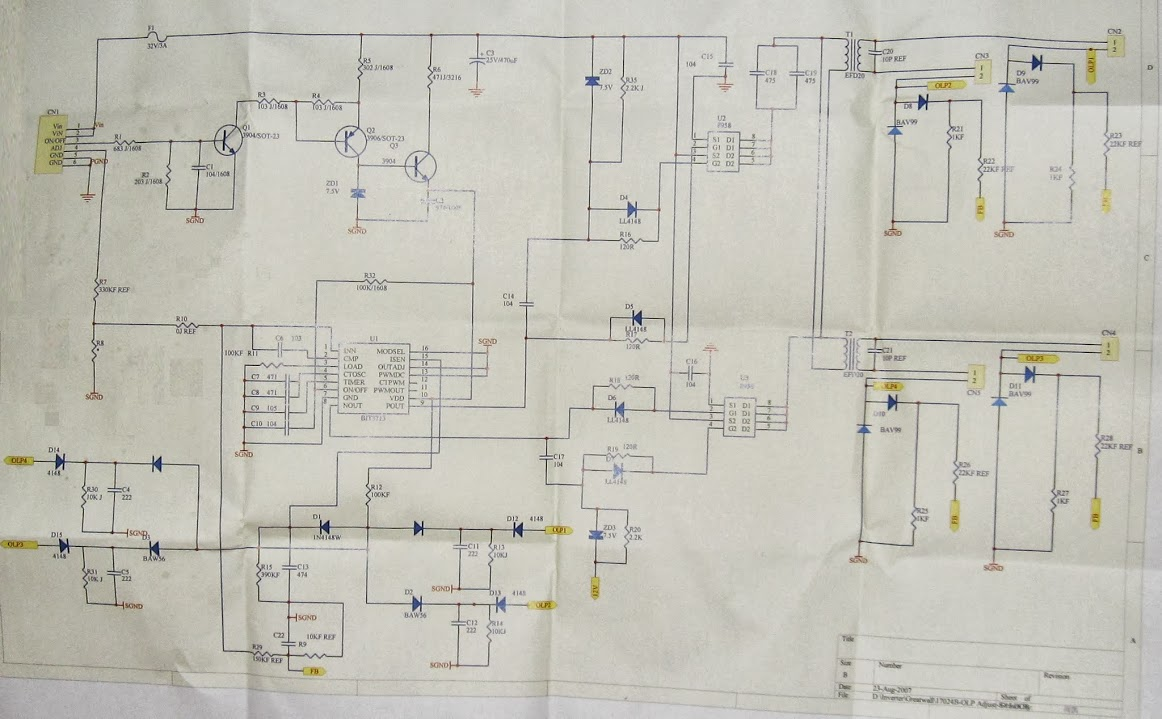 Lcd Monitor Repair Inverter Issue Page 1 19 Inch Power Supply Schematic Circuit Diagram I Have Picture Now But The Controller Still Shuts Down In 2 Seconds Checked Dc Resistance Of Both Secondaries They Are Same 15k Or