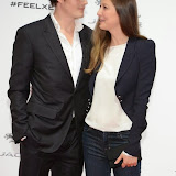 WWW.ENTSIMAGES.COM -    Sam Riley and Alexandra Maria Lara    arriving     at       Jaguar XE - World premiere and  Global launch party at Earls Court Exhibition Centre, London September 8th 2014Jaguar premieres its new Jaguar XE car to press and VIPs                                               Photo Mobis Photos/OIC 0203 174 1069