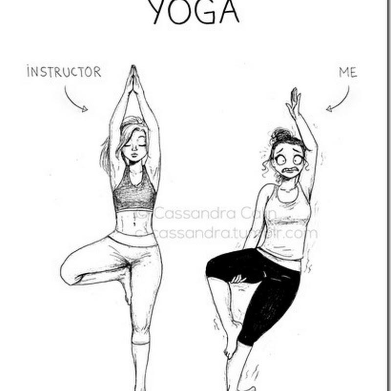 Humor, yoga, encuentra las diferencias