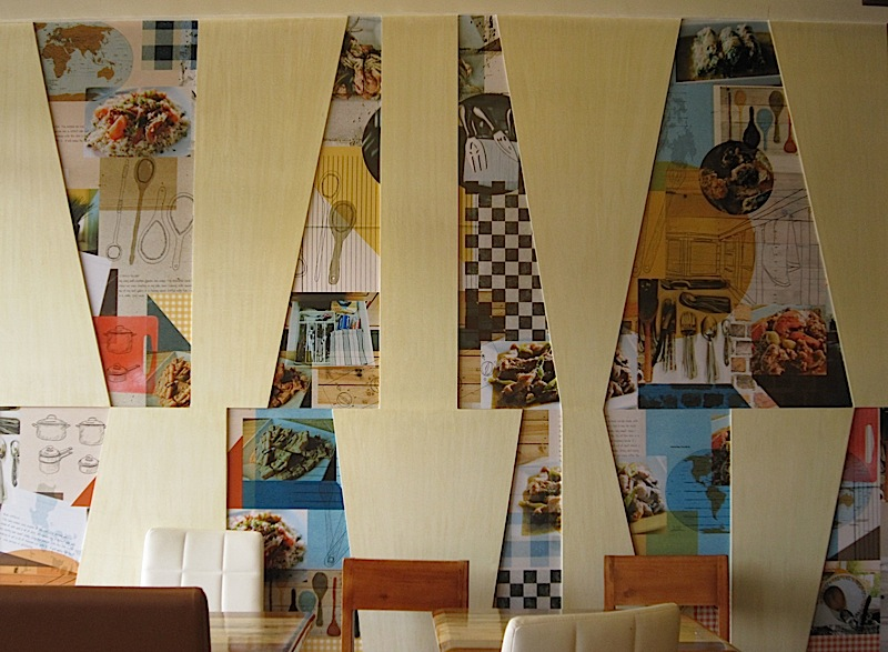 one wall of the Wooden Spoon restaurant